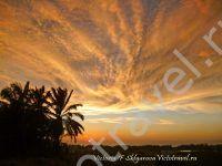 закат в городе Мири, море, небо, Борнео, Малайзия