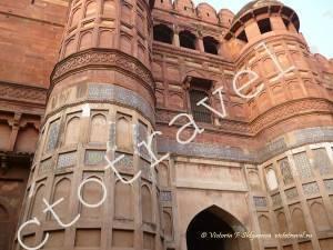 Ворота и башни, Красный форт, Агра, Индия