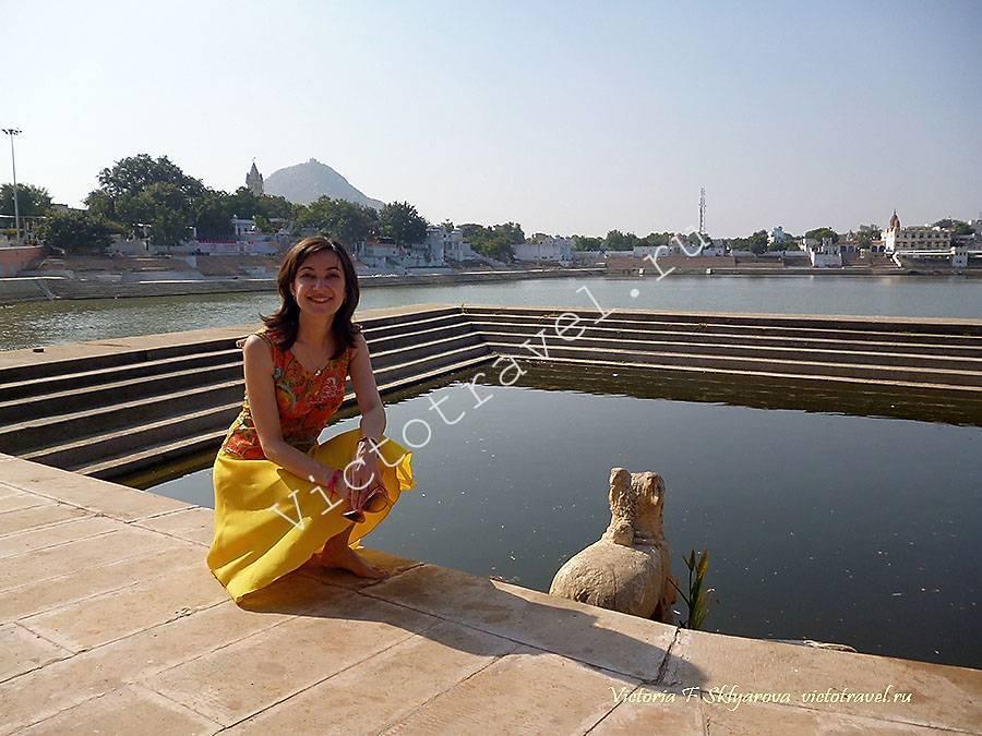 священное озеро в Пушкар, Индия