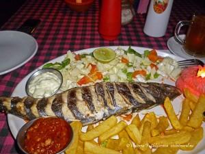 еда, ужин, рыба, блюдо