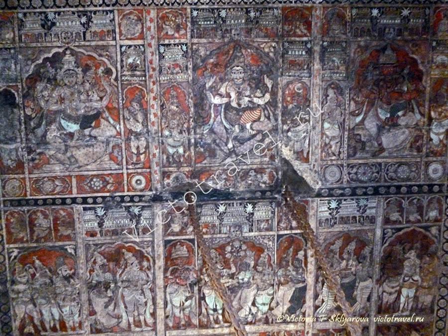 отделка в Храме Вирупакши, Хампи, Индия