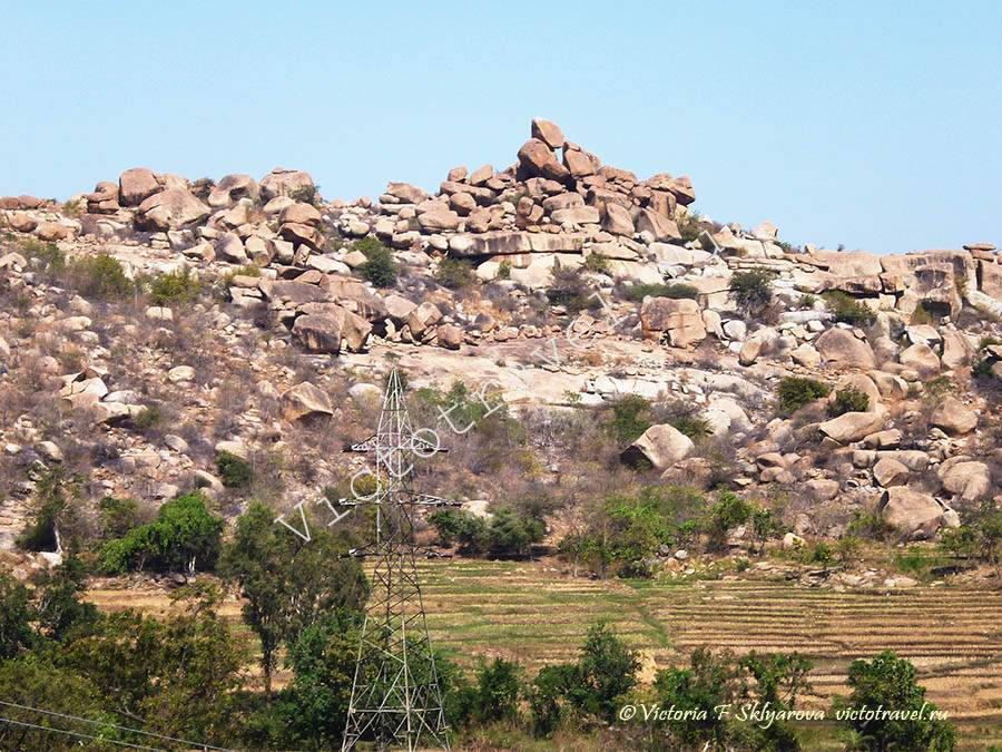 глыбовые горы вокруг Хампи, Индия