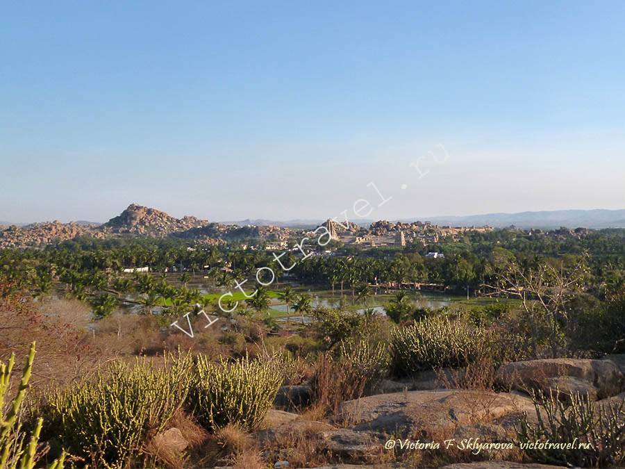 пейзаж Хампи, Индия