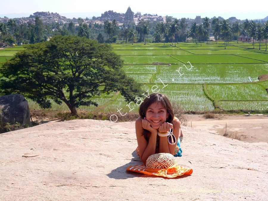 рисовые поля, Хампи, Индия