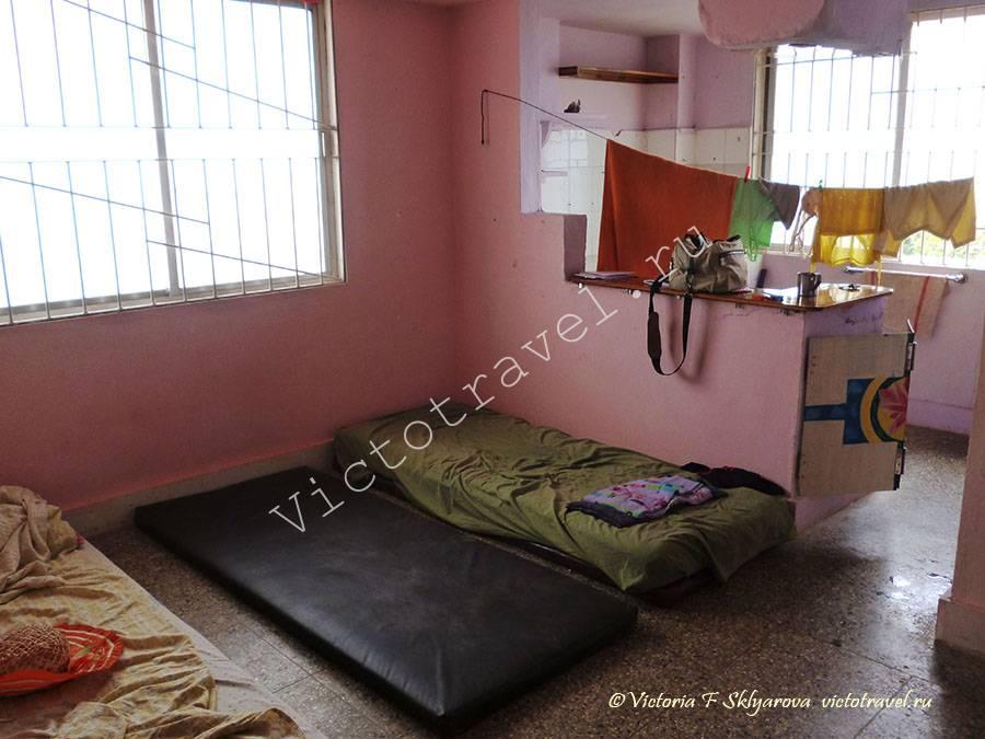 моя комната в ашраме Аммы, Керала, Индия