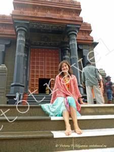в храме в Каньякумари, Индия