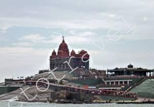 храм на острове, Каньякумари, Индия