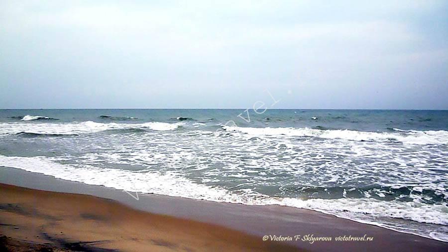 море в Варкала, Южный клиф, Керала, Индия