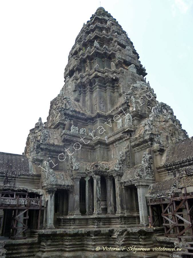 башня храма Ангкор Ват, Камбоджа