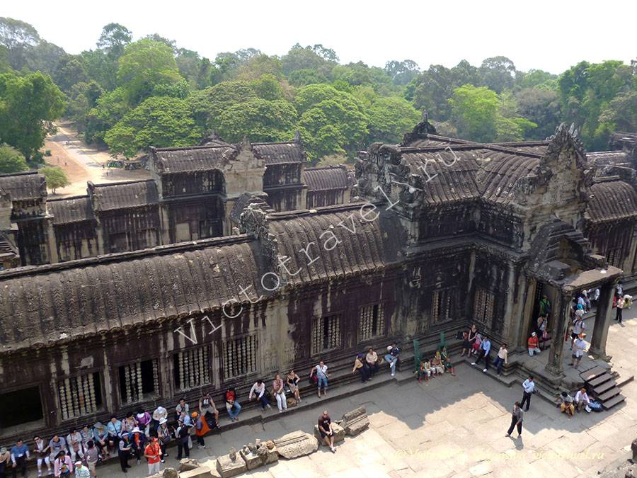 фото сверху Ангкор Ват, Камбоджа