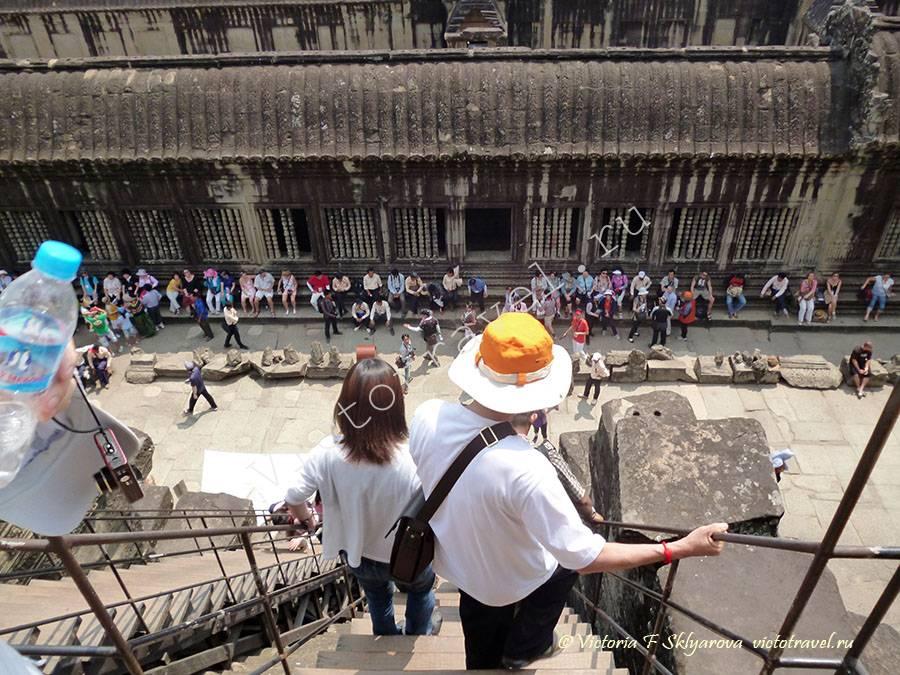 фото сверху башни в Ангкор Ват, Камбоджа