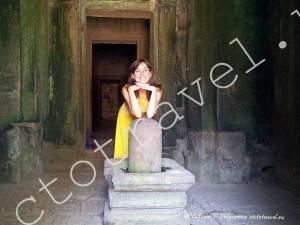 фото в храме Ангкор Ват, Камбоджа