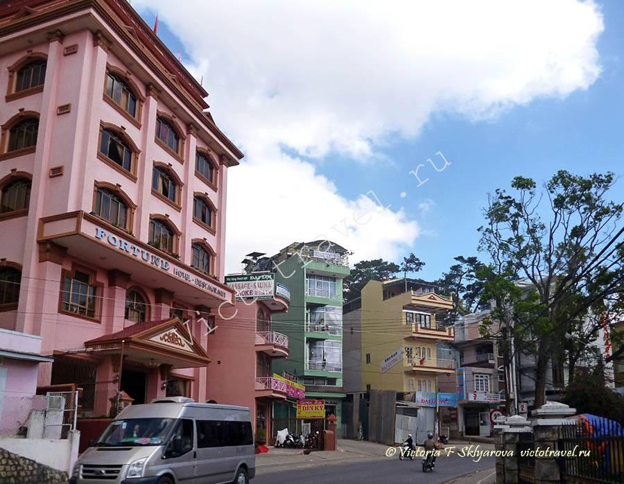 Улица в городе Далат, Вьетнам