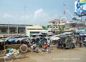 на автобусе из Камбоджи в ХоШиМин, Вьетнам