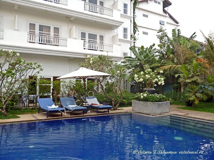 бассейн в отеле, Сием Рип, Камбоджа