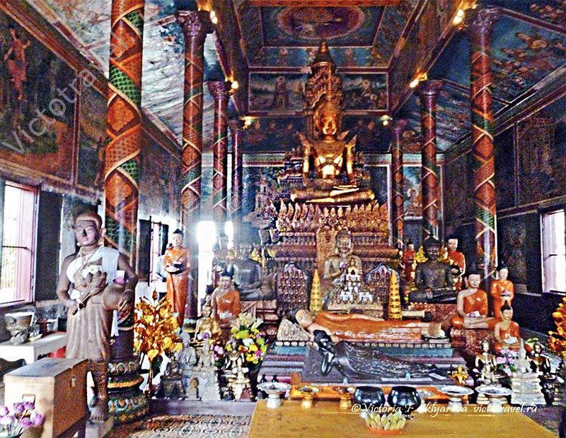 Серебрянная Пагода, вид внутри, Пномпень, Камбоджа