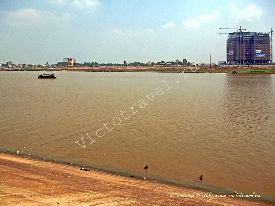 река Меконг, Пномпень, Камбоджа, 2012г