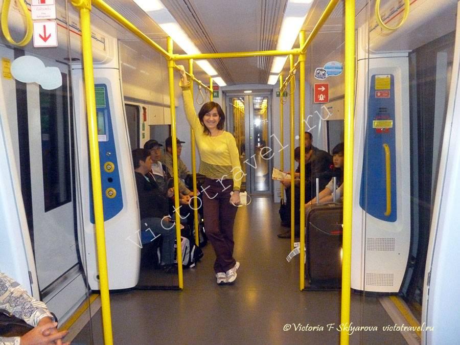вагон метро из аэропорта, Бангкок, Таиланд