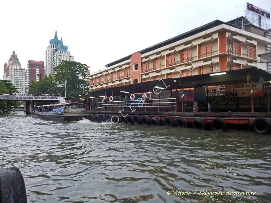 канал с лодками, Бангкок, Тайланд