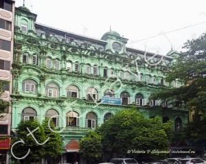 Здание, архитектура, город Янгон, Мьянма