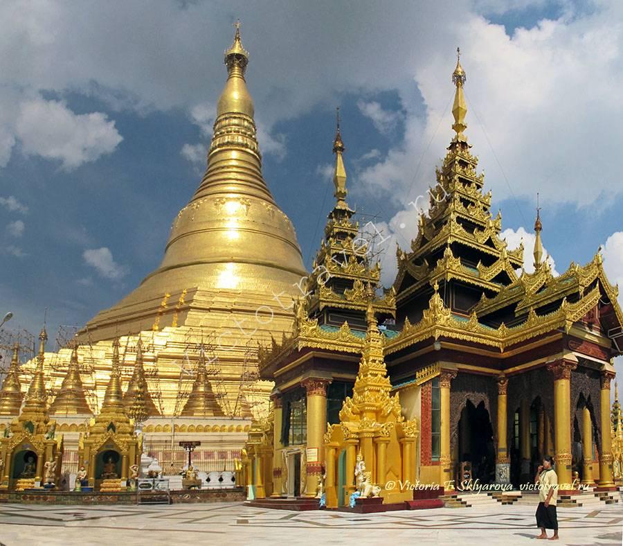 Shwedagon-Pagoda, Пагода Шведагон, архитектура, Yangoon, Myanmar