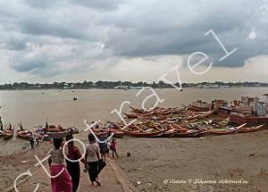 порт, река, Янгон, Мьянма