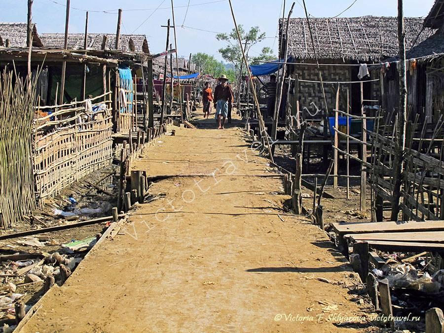 Рыбацкая деревня в Чаунгта, Мьянма