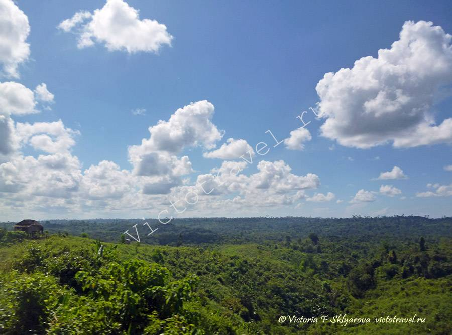 красивые пейзажи по дороге из Патеин к морю, Мьянма