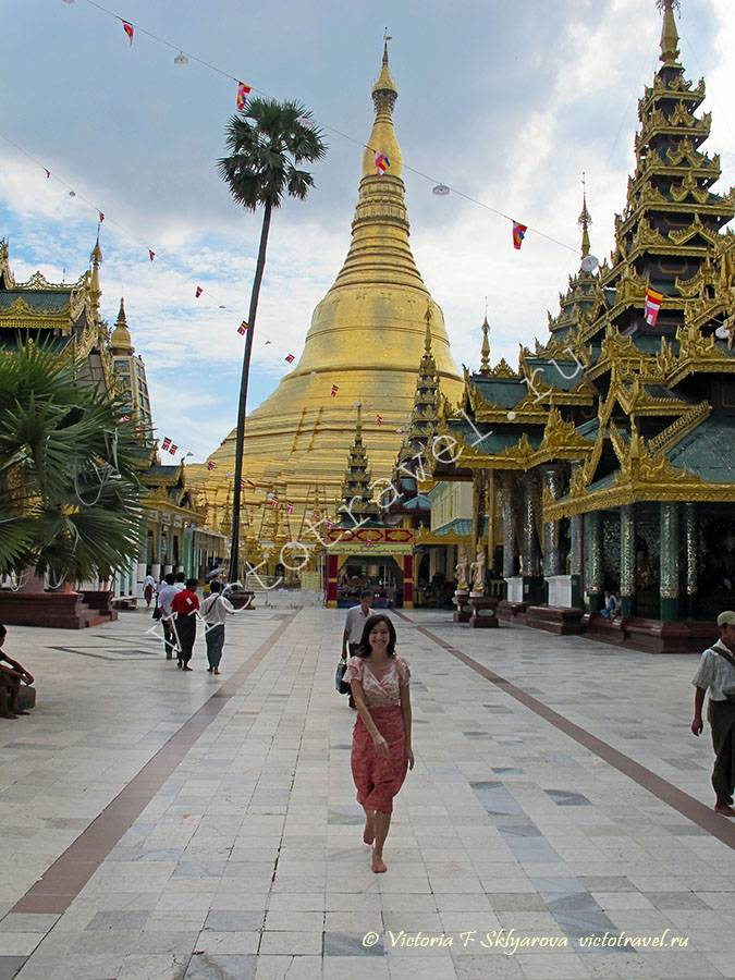Пагода Shwedagoon, Янгон, Мьянма