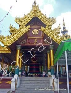 Колокол у Пагоды Шведагон, Янгон, Мьянма