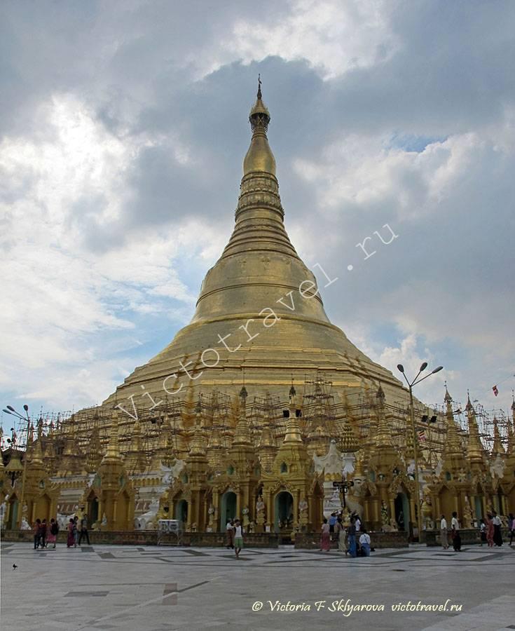 Шведагон Пагода, Янгон Мьянма, Shwedagon-Pagoda