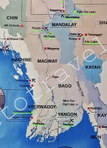 озеро Инле на карте, Мьянма