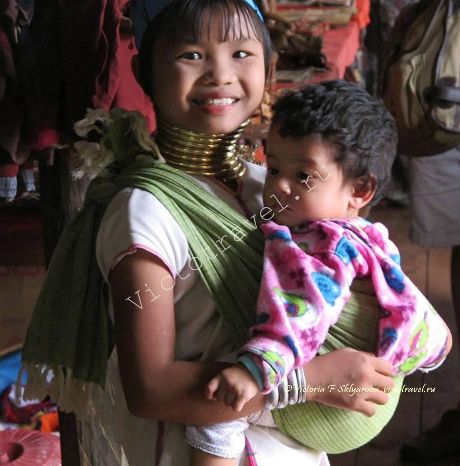 девочка с кольцами на шее, озеро Инле, Мьянма
