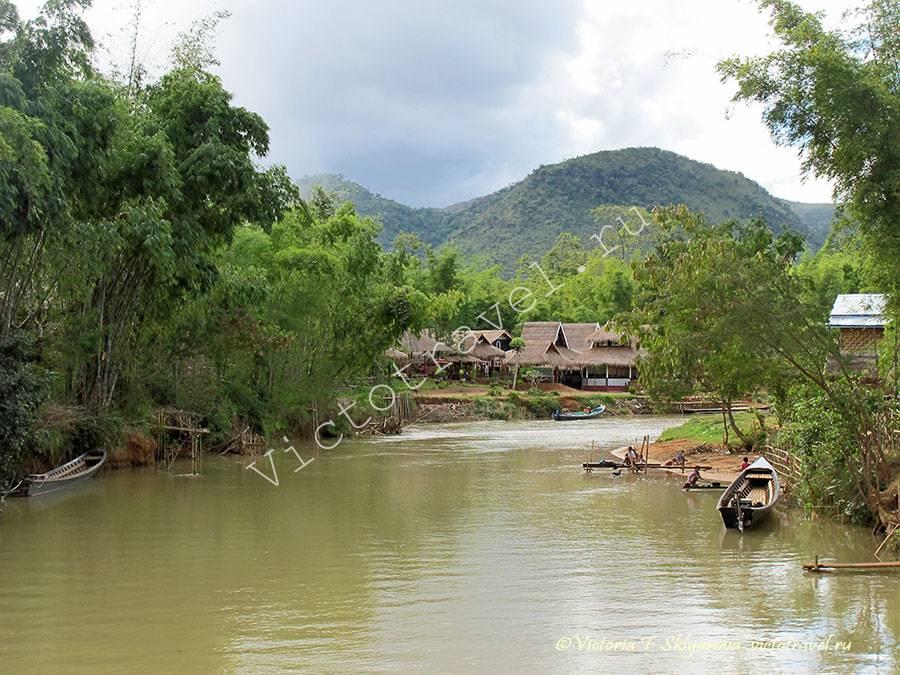 речка, канал, озеро Инле, Мьянма