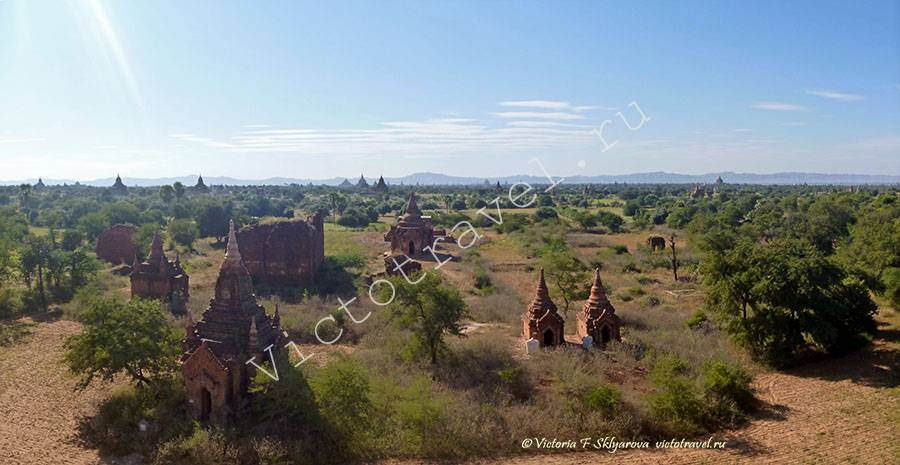 древние храмы на полях Баган, Мьянма