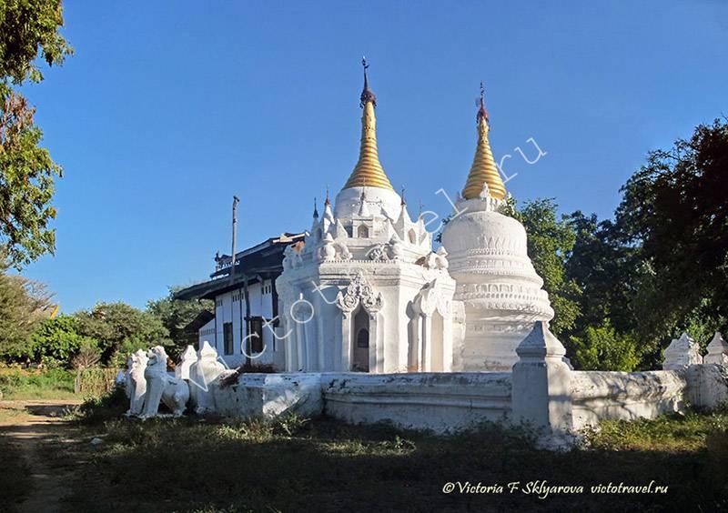 маленький белый храм Баган, Мьянма