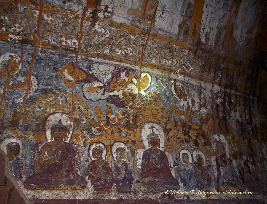 роспись на стенах храма, Баган, Мьянма