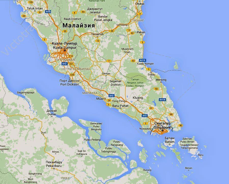 Сингапур-на-карте