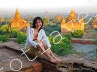 Рассвет, храмы в Багане, Мьянма