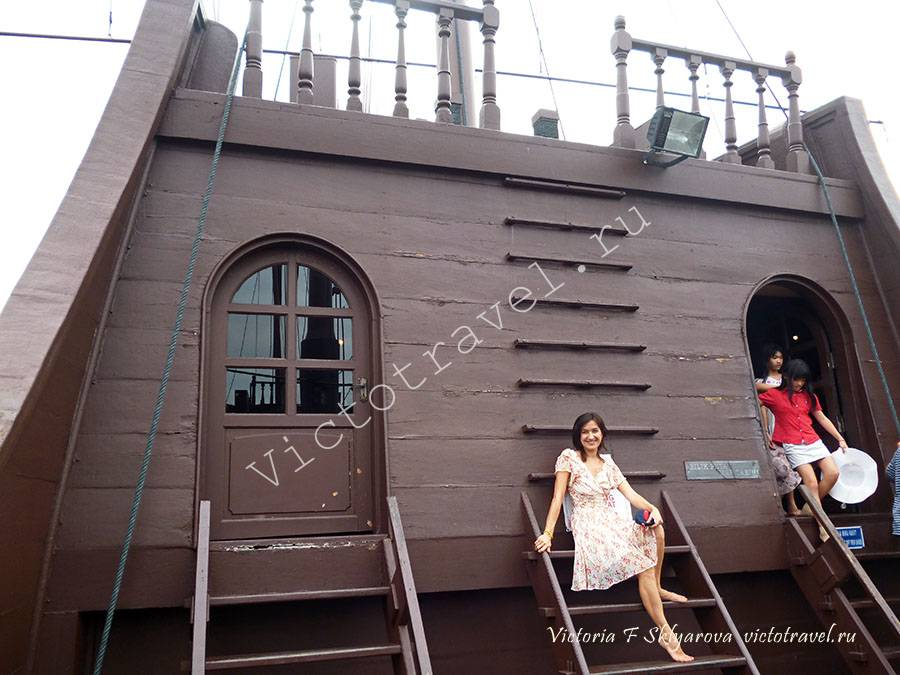 в морском музее на корабле, Малакка, Малайзия