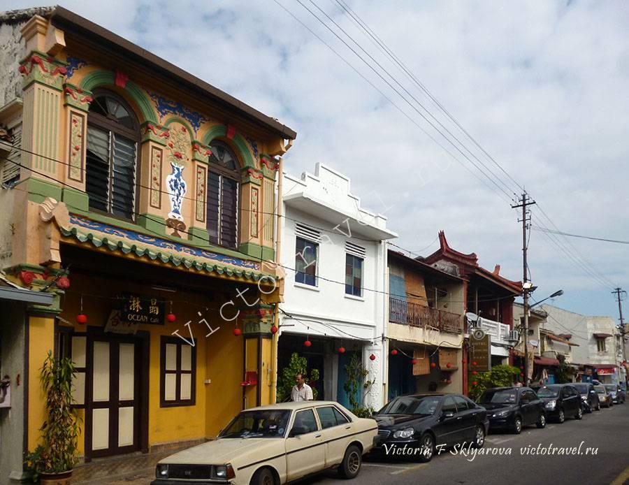 Здания в чайна таун, Малакка, Малайзия