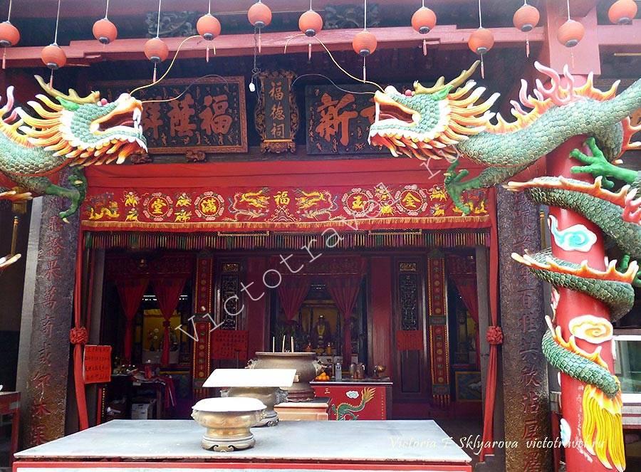 старый китайский храм, Малакка, Малайзия