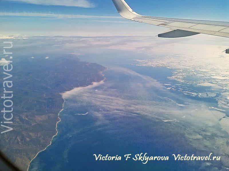 озеро Байкал с самолета