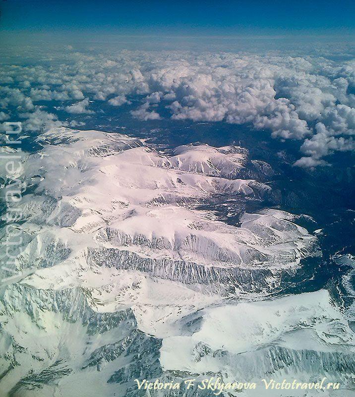 забайкалье, горы, ландшафт, вид с самолета