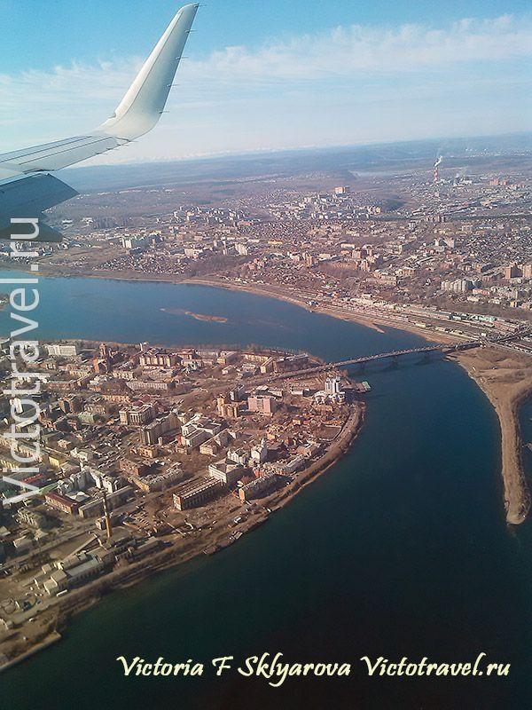 Иркутск с самолета
