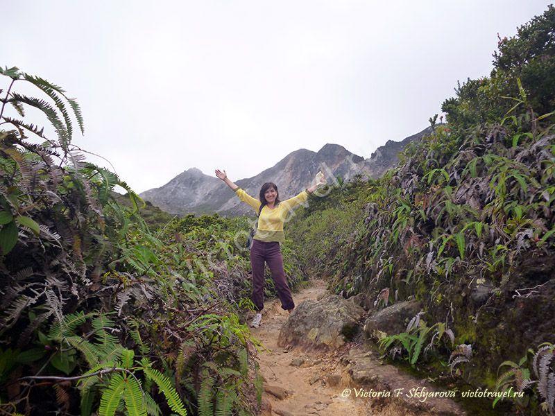 вулкан Сибаяк, Берастаги, Суматра, Индонезия