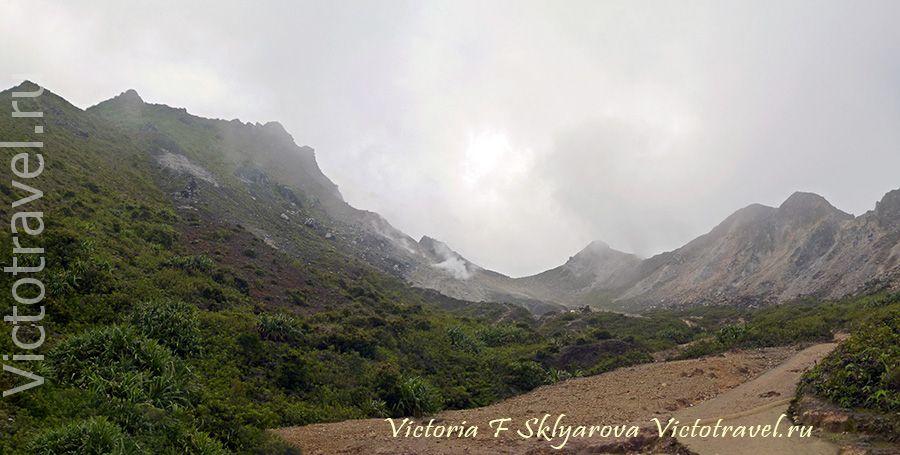 вулкан Сибаяк, горы, пейзажи, Берастаги, Суматра, Индонезия