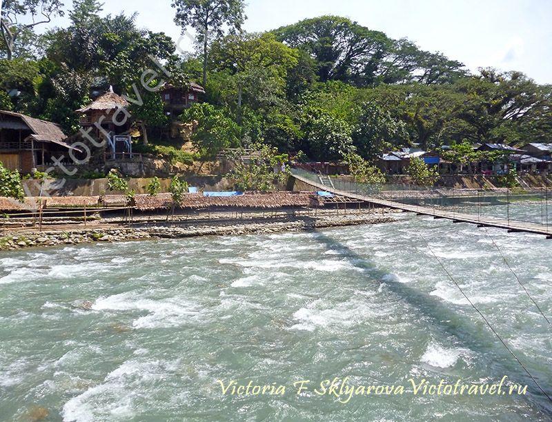 Букит Лаванг, река, Суматра, природа