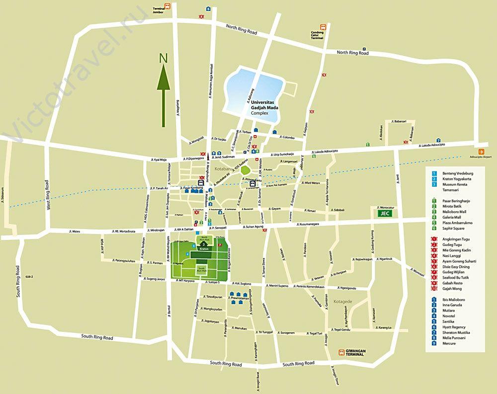 карта Джокьякарта, схема