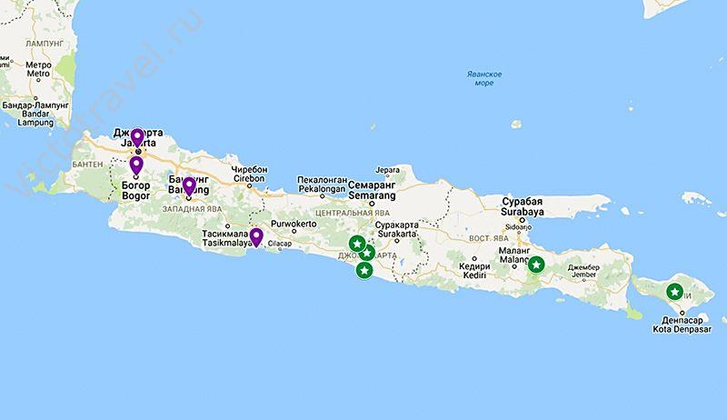 карта, остров Ява, индонезия